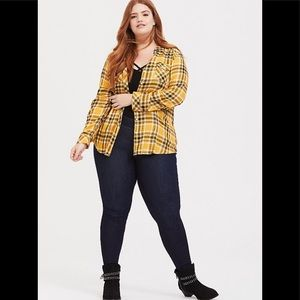 Torrid Taylor-Yellow Plaid Twill Shirt
